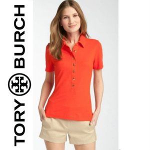 Tory Burch red puma polo shirt sz small